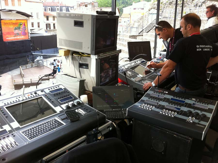 Lovely The 31st Vienne Jazz Festival. A Vista T2 Lighting Console Running The New  V2 Software Was Used ...